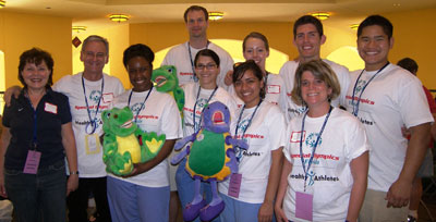 Special Olympics volunteers from the UF College of Dentistry