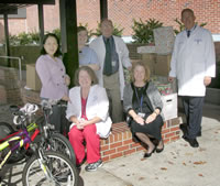 From left: (front) Kathleen Leigh, Dr. Teresa Dolan, (back) Dr. Geraldine Weinstein, Stephanie Scrambling, Dr. Ron Watson and Dr. Boyd Robinson