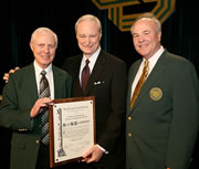From left: Gordon Christensen, Sam Low and CDS President Michael Stablein