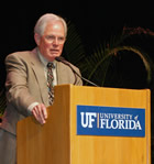 Randy Caton, D.D.S., a Gainesville dentist, served as keynote speaker for the ceremony.